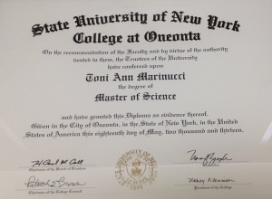 Masters Degree Certification