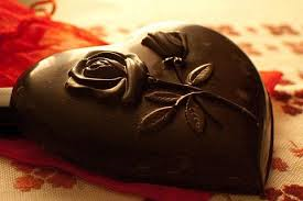 valentines day heart dark chocoalte