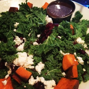 Kale, Goat Cheese, Sweet Potato Salad
