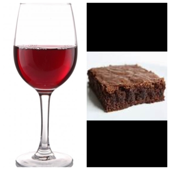 wine-and-brownie